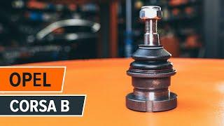 Kako zamenjati Nosilec amortizerja OPEL CORSA B (73_, 78_, 79_) - spletni brezplačni video