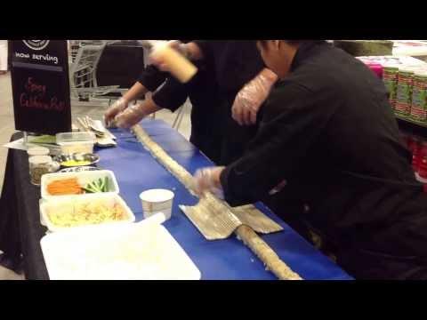 8 Foot Sushi Roll - Courtesy Of Bento Sushi