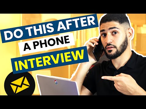Thank You Email After Phone Interview - Get To The Next Round Using This #1 Template (in 2019)