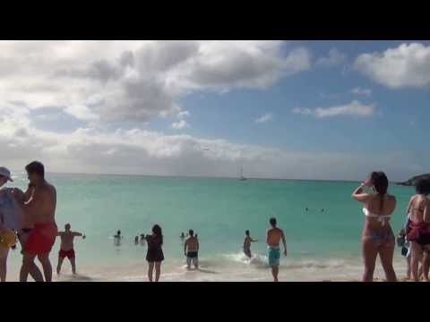 Maho Beach at St Maarten Part 1