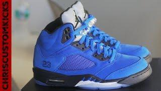 CRAZY Jordan 5 Raging Blue Custom Full Tutorial