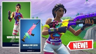 NEW WORLD WARRIOR Skin and WORLD CUP 2019 Wrap Gameplay in Fortnite