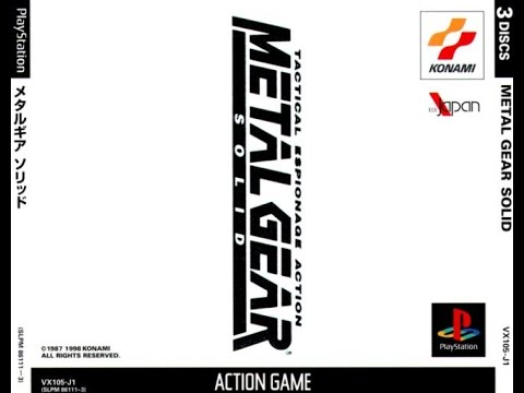 Metal Gear Solid Playthrough (Japanese Voices) Part 01 PSX PS1 Import NTSC-J