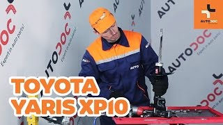 Hvordan bytte foran støtdemper på TOYOTA YARIS XP10 BRUKSANVISNING   AUTODOC