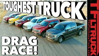 Download What's the Fastest Half-Ton You Can Buy? World's Toughest Truck Drag Race #1 Mp3 and Videos