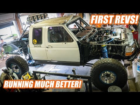 Tube Chassis PRERUNNER Gets Motor Mount GUSSETS And Gas