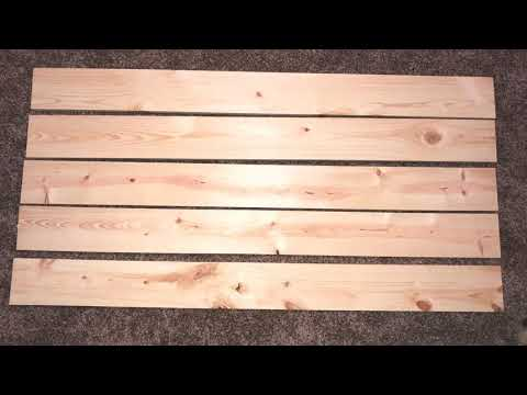 RUSTIC QUEEN WOOD HEADBOARD DIY