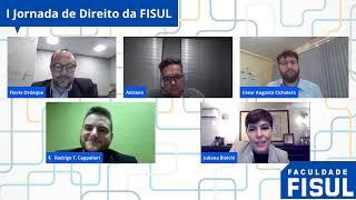 I Jornada de Direito da FISUL - 01/10 - Juliana Della Valle Biolchi, Adriano Silva e Flávio Ordoque
