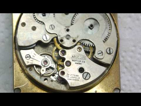 VERY RARE ANGELUS 8 DAYS TRAVEL ALARM   CAL 240 MOVEMENT PAN