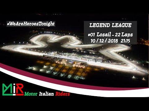 MotoGP 18 | Legend League | Round #01 | Losail | Live Streaming 1080p