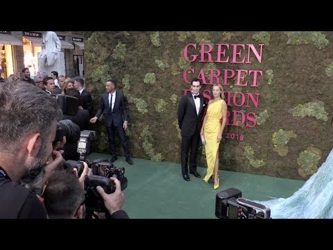 Carolyn Murphy and more on the red carpet for the Green Carpet Fashion Awards in Milan
