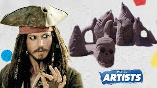 pirates of the caribbean sand art   aweme artists