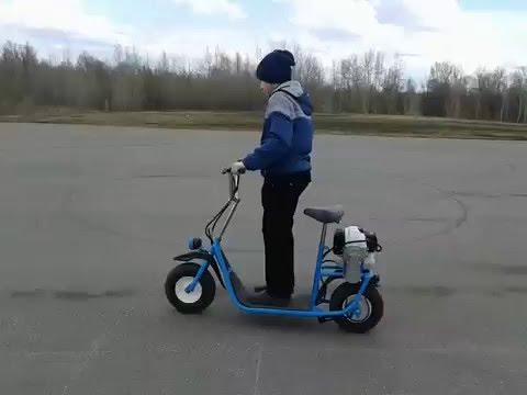 Самокат с двигателем своими руками