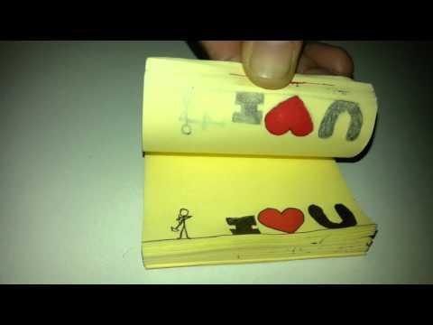 STICKY NOTE ANIMATION LOVE MESSAGE