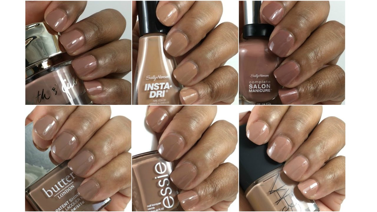 Nude Nail Polishes on Brown Skin - YouTube
