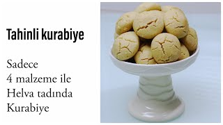 Tahini cookie/sweet recipes that are distributed in the mouth with Halva taste only 4 ingredients