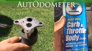 How to clean the EGR valve and Throttle || 1997 Chevy Lumina