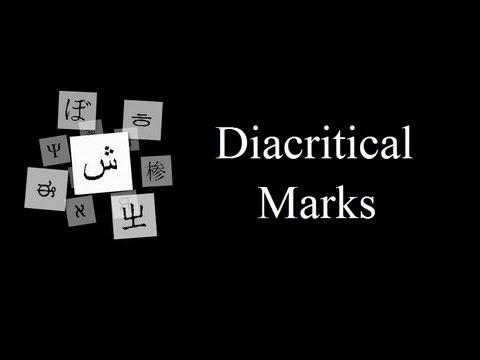 Diacritical Marks