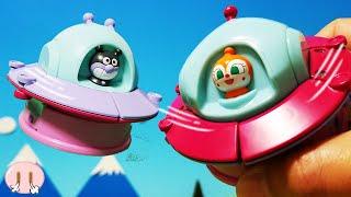 アンパンマン 空飛ぶチキチキ変身!おもちゃアニメ❤おかあさんといっしょ バイキンUFO ドキンUFO のりもの 変身 幼児 Toy Kids トイキッズ anpanman thumbnail