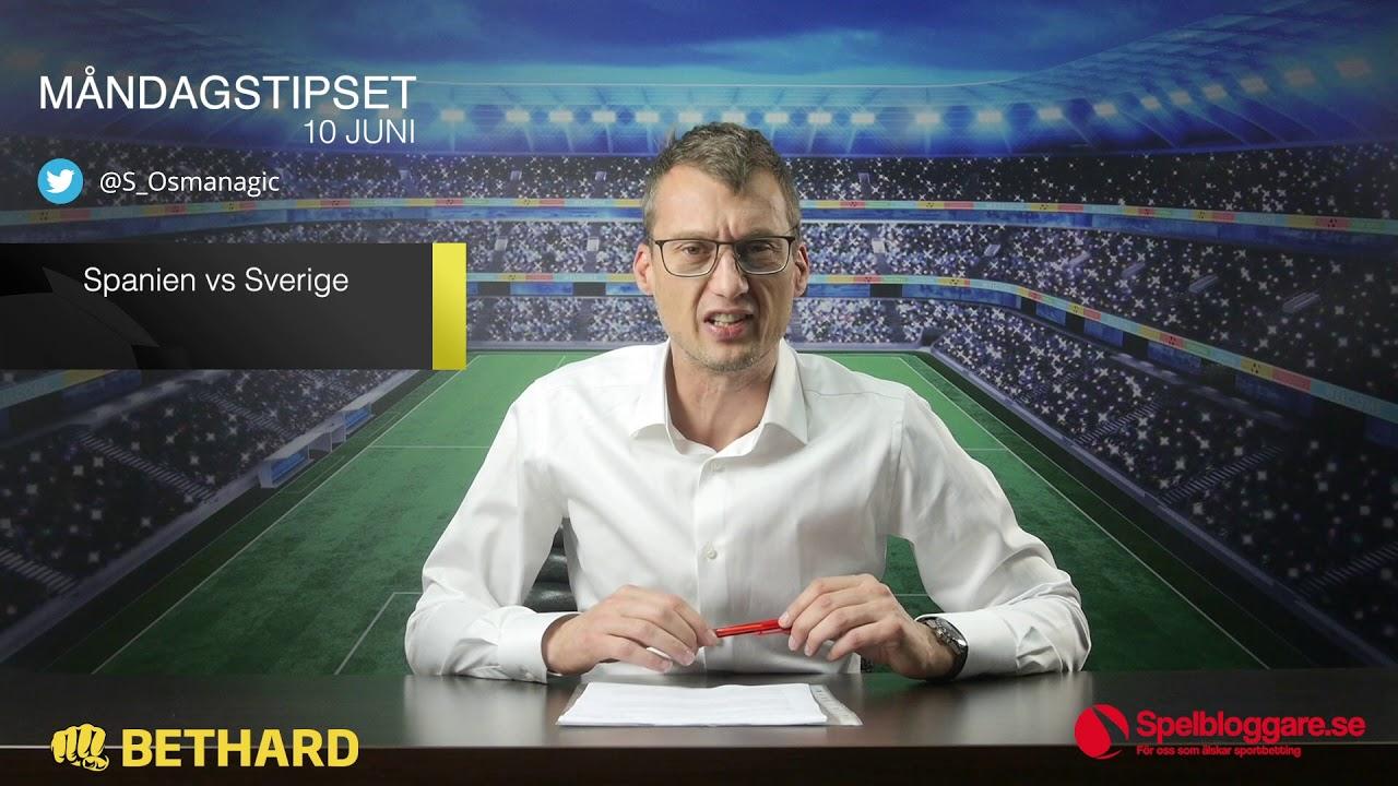 sverige spanien tv