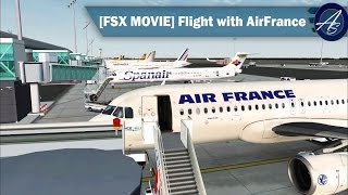 FSX Movie | Flight with AirFrance