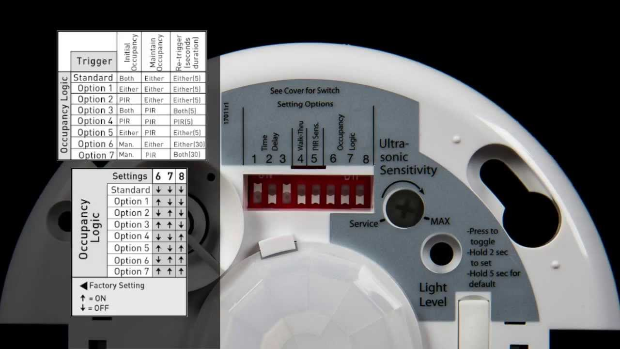 maxresdefault wattstopper how to video dt 300 occupancy sensor youtube watt stopper dt 305 wiring diagram at mifinder.co