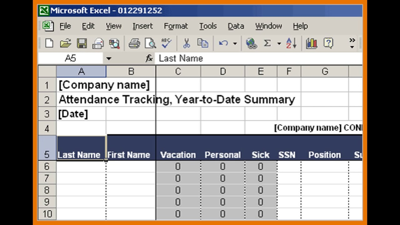 Part TimeFull Time Employee Attendance Tracker Template Excel YouTube - Part time schedule template