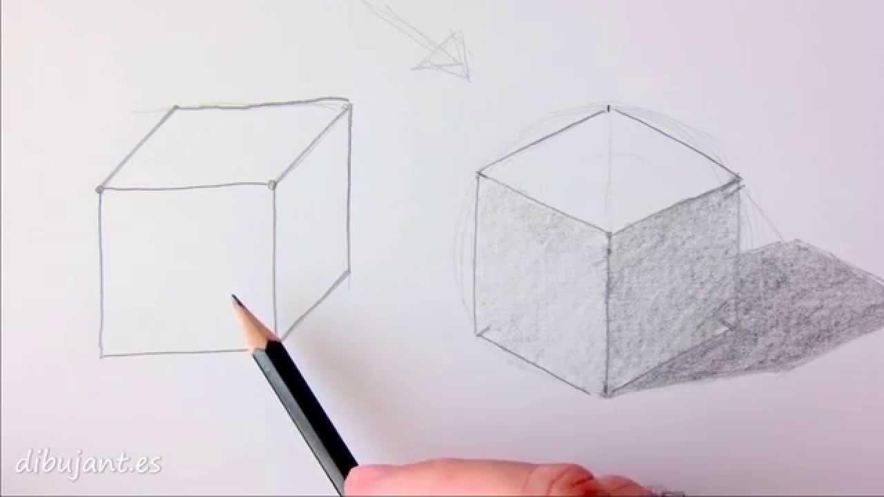 Como Dibujar Un Cubo Youtube