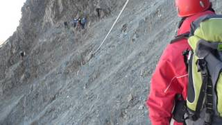 Fun on Mont Blanc - Rockslide.mov