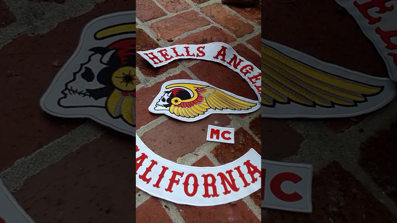 stripping a eBay shopper of his fake hells angels cut and patches part 1