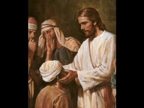 Resultado de imagen de imagen de jesus que visita a un ciego de nacimiento