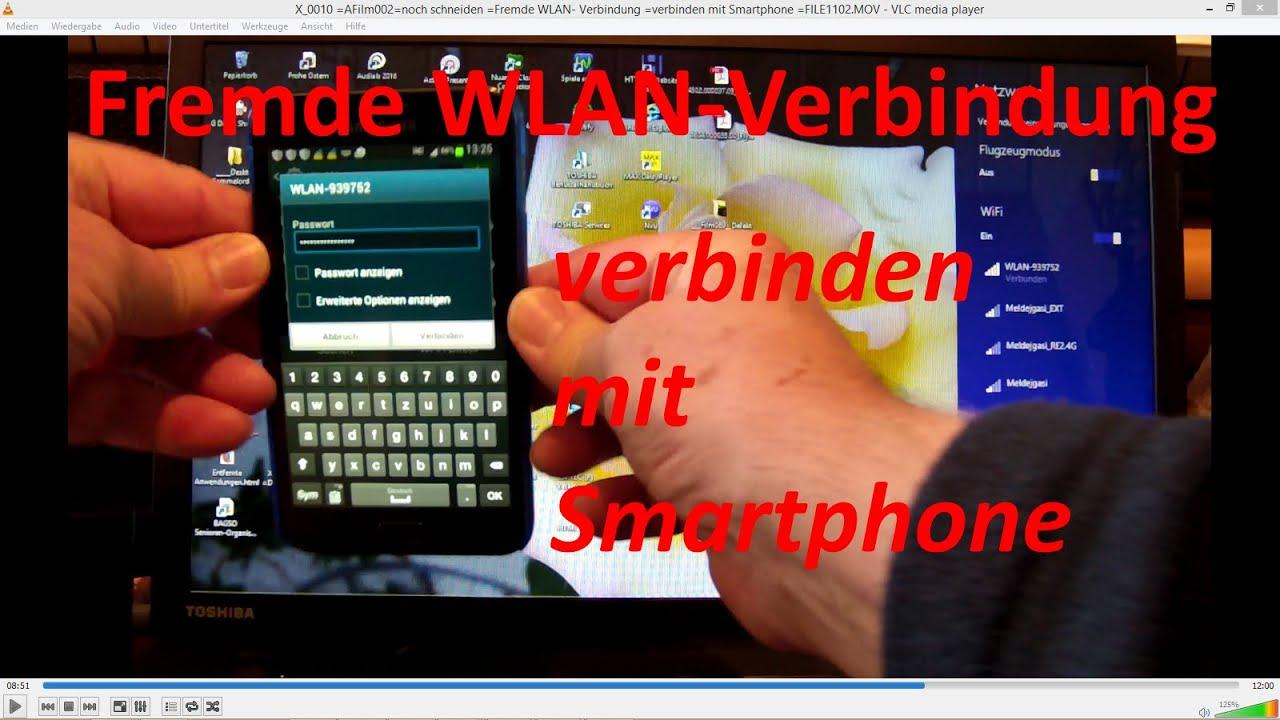 X_0010 =Fremdes WLAN =Festnetz-Router =verbinden mit Smartphone ...