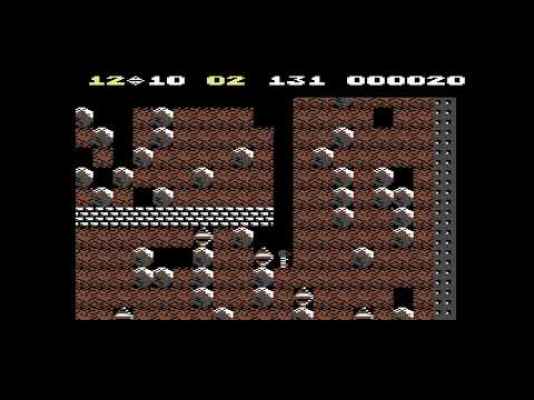 Commodore 64 - C64 - Gameplay - Boulder Dash - First Time Playing