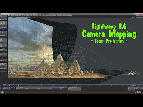 Lightwave 11.6 - Camera Mapping - Front Projection