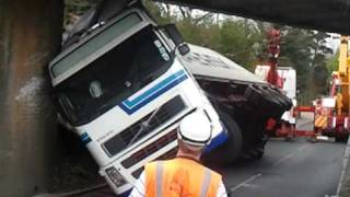 Lorry hit rail bridge north walsham