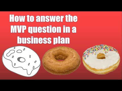 How to answer the MVP (minimum viable product) question in a business Plan