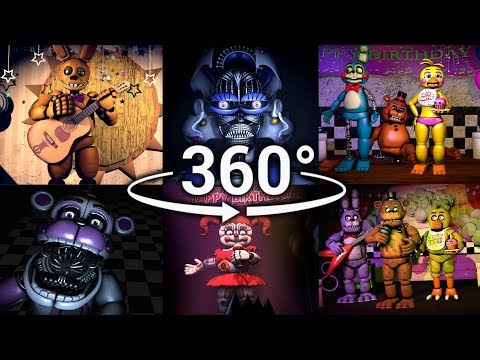 360° Best FNAF 360 Show Compilation!!  Five Nights at Freddys SFM VR Compatible Part 1