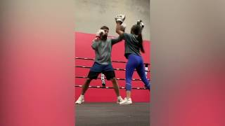 Mike Perry 's Girlfriend Who Will Be In His Corner Hold Pads For Him