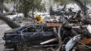 RAW: Video shows moment mudslide hits California home