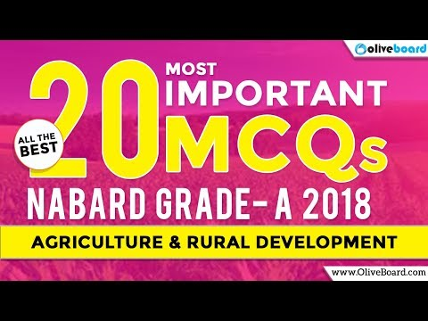 NABARD Grade A 2018 Preparation | Agriculture & Rural Development MCQs
