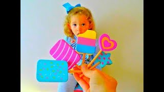 Learn Colors with Fingers Family Kid Song Colorful Ice Cream Cute Kid * Video for Kids