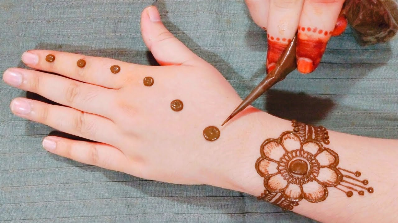 New Easy Stylish Dotted Mehndi design | Simple Mehndi design for hands | Beautiful Mehandi ka Design