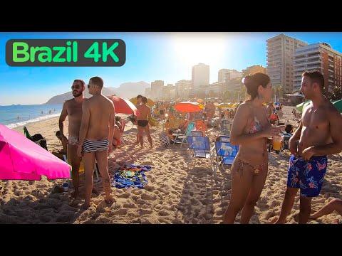 Rio De Janeiro, BRAZIL — IPANEMA Beach, Walking Tour in RIO (Narrated)【4K】☀️🇧🇷