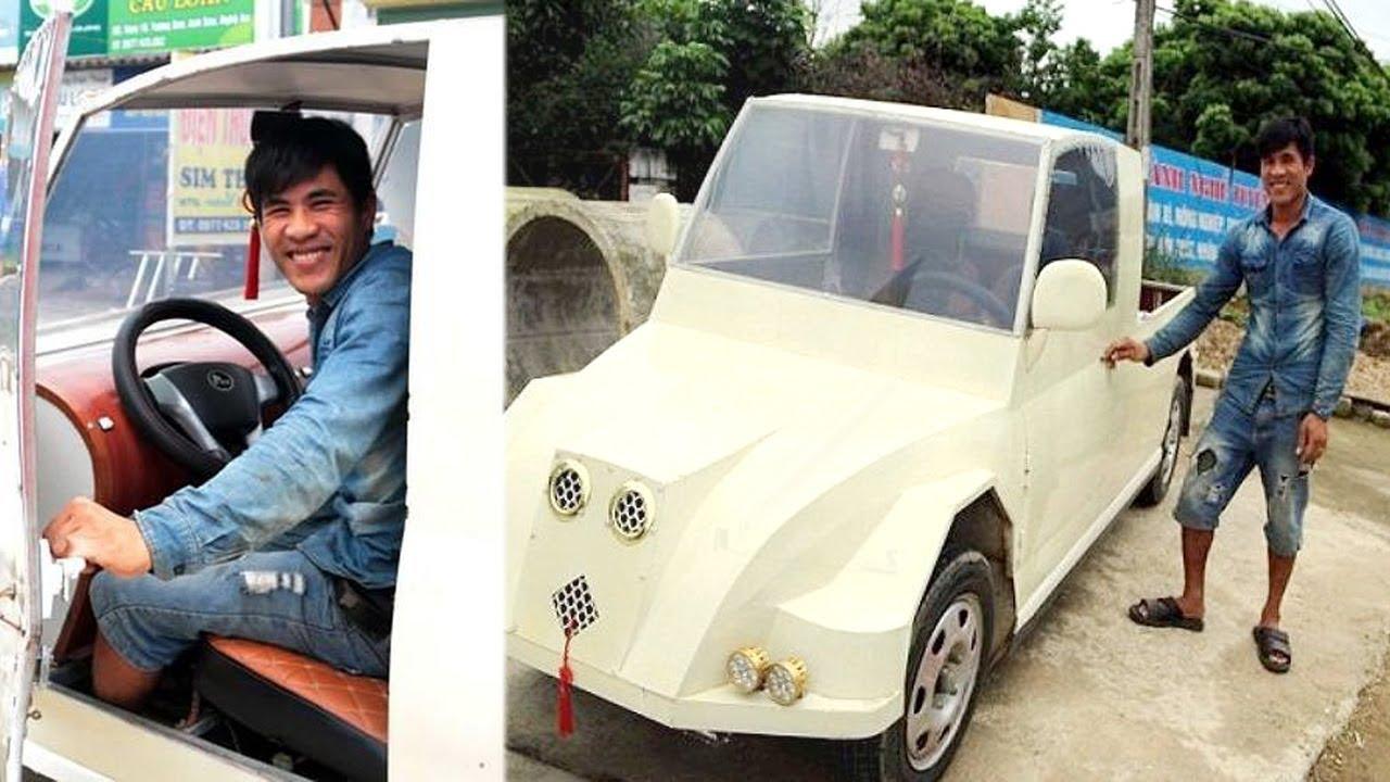 Anh Thợ Hàn Ở Nghệ An Chế Tạo Thành Công Ô Tô Từ Động Cơ Xe Máy Khiến Các Chuyên Gia Phải Khâm Phục