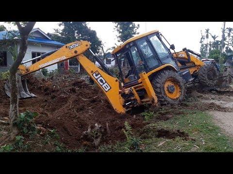 JCB Dozer Collecting Mud and Making Drain - JCB Digger Working Video - JCB VIDEO