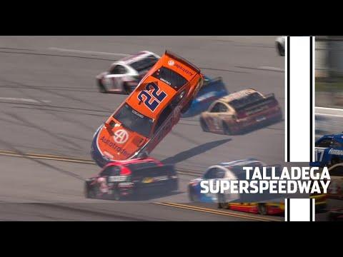 Stage 1 crash sends Logano tumbling at Talladega | Every angle of Logano's flip | NASCAR Cup Series