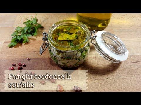 Cardoncelli mushrooms in oil - Creativaincucina recipe