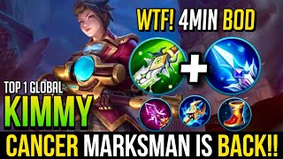 Super Fast BOD! | Kimmy Best Build & Gameplay | Top 1 Global Kimmy | Mobile Legends