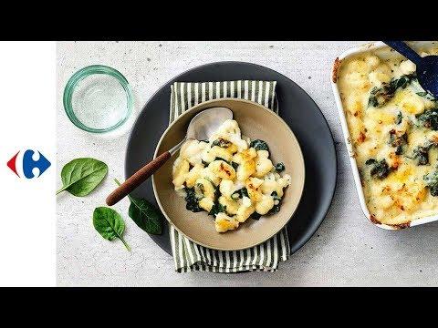 gnocchis-au-four-avec-chou-fleur,-épinards-et-sauce-3-fromages
