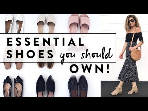 0d34797a7615 6 Essential Shoes Every Woman Should Own | Minimalist Wardrobe Basics Shoe  Guide | Miss Louie - YouTube